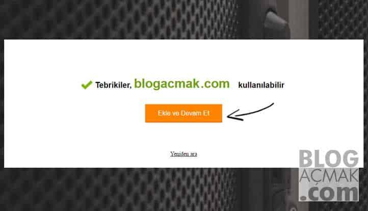 blog nasıl acilir domain onayı