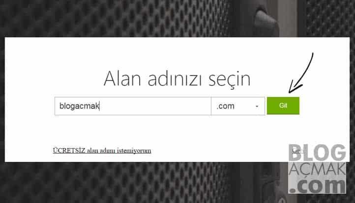 blog nasıl acilir domain secimi