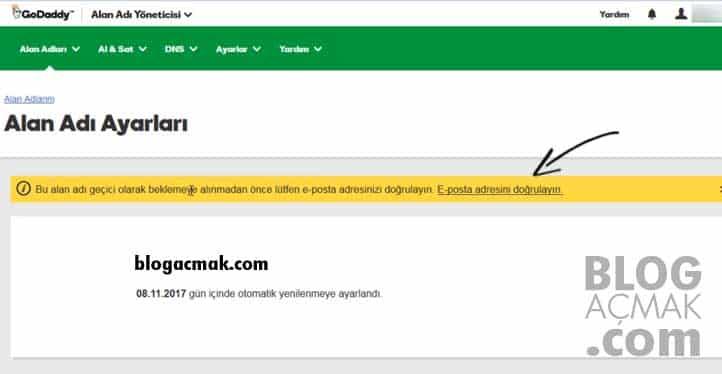 blog nasıl açılır mail onayı