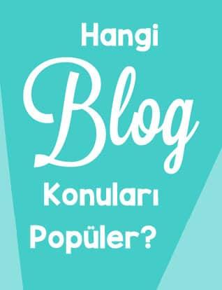 en popüler blog konuları