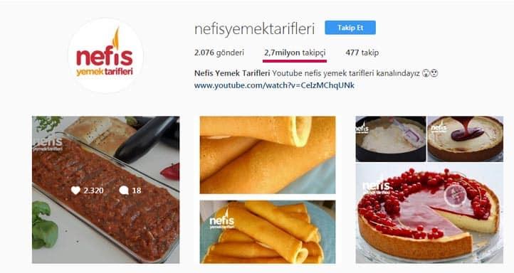 yemek blogları instagram