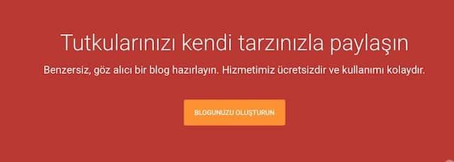 blogger hesap açmak