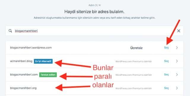 Ücretsiz Blog Açma - WordPress uzantılı domain