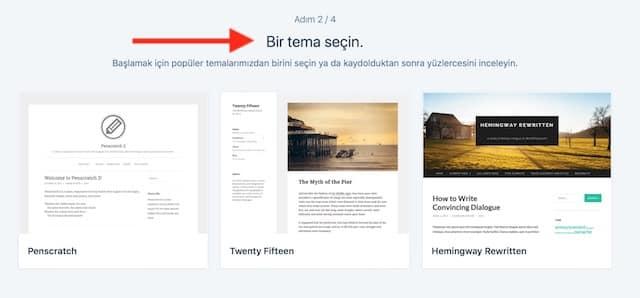 Ücretsiz Blog Açma WordPress Tema Seçimi