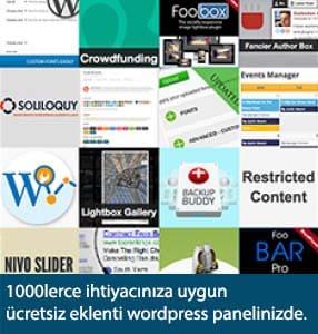 Wordpress ücretsiz eklentiler