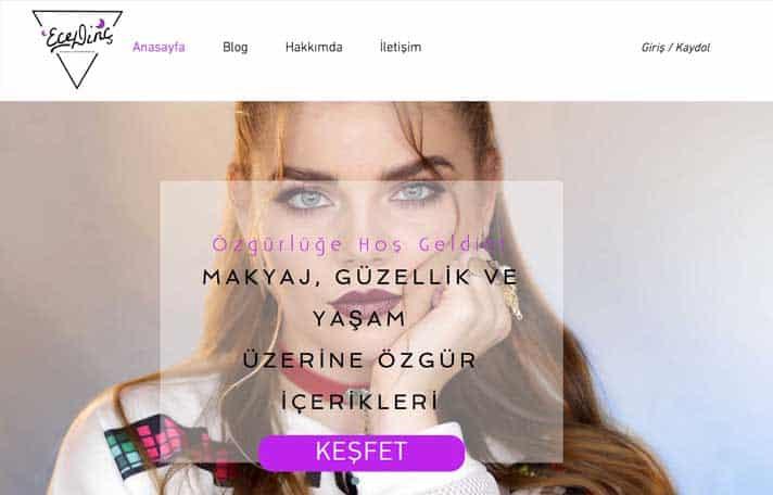 En iyi makyaj blogları Ece Dinç