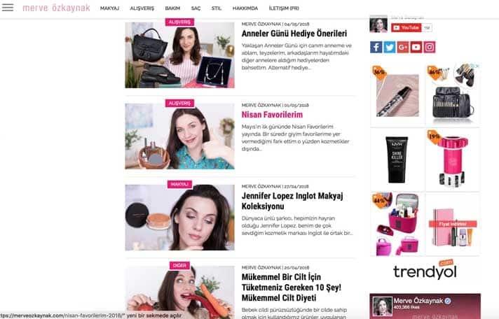 En iyi makyaj blogları - Merve Özkaynak
