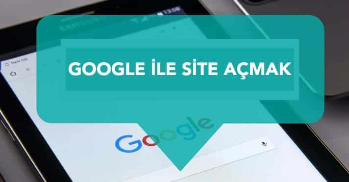 google site açmak
