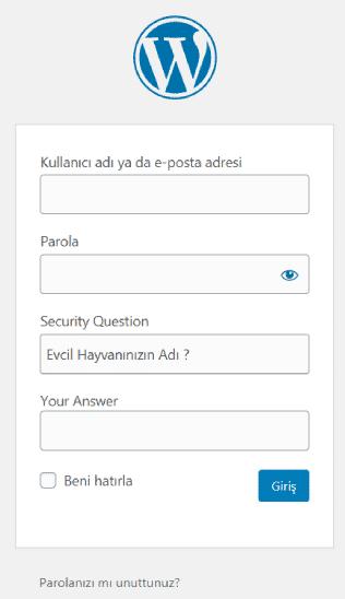 Wordpress Güvenlik Sorusu