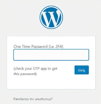 wordpress kimlik doğrulama