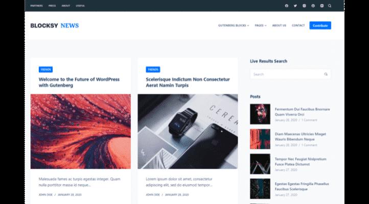 En Hızlı WordPress Teması - Blocksy