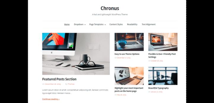Hızlı wordpress teması - chrounus