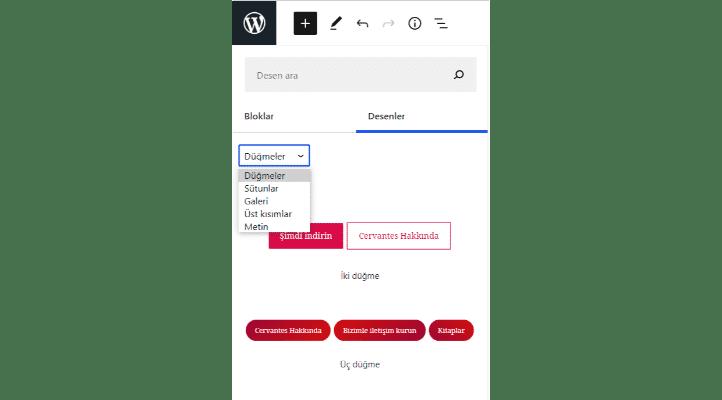 wordpress 5.6 güncellemesi ne getirdi düğmeler