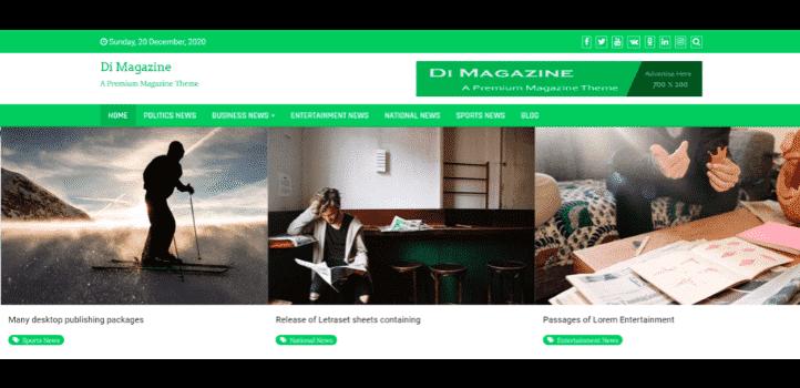 Hızlı wordpress teması - Di Magazine
