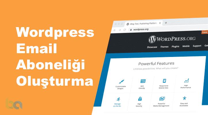 Wordpress Email Aboneliği Oluşturma