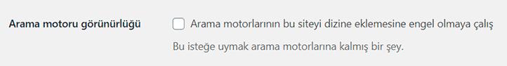 Wordpress Arama Motoru Ayarlari