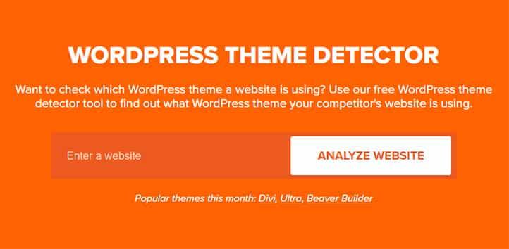 Wordpress Tema Ismi Bulma WPBeginner Araci