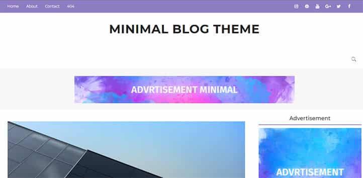 Ücretsiz Sade Blogger Temaları - Minimal