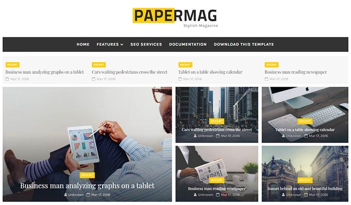 Ücretsiz Blogger Magazin Temaları - Papermag