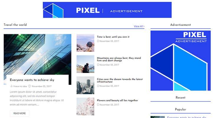 Blogger Google Adsense Temaları - Pixel