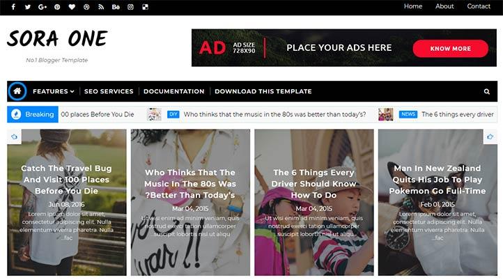 Ücretsiz Blogger Haber Temaları - Soraone