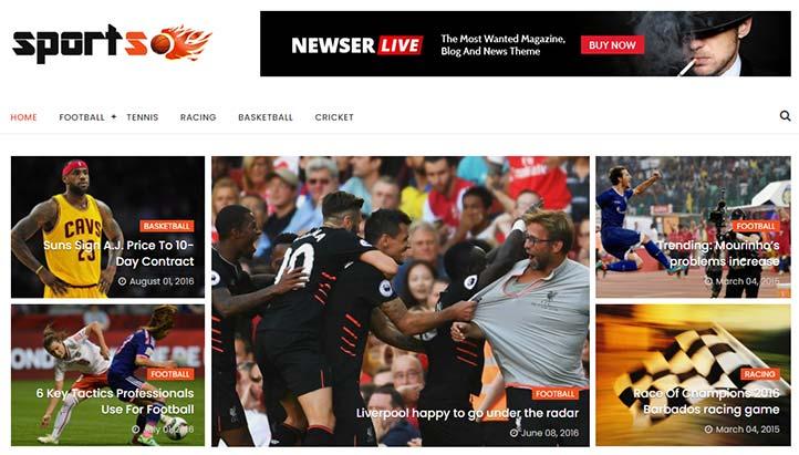 Blogger Spor Haberleri Temaları - Sportsmag